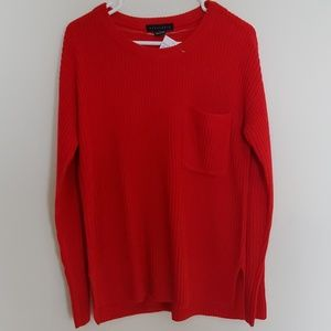 Sanctuary Red Pull Over Sweater with Pocket